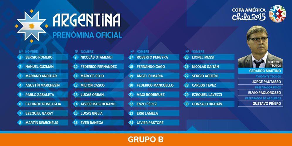 Inilah Skuad Resmi Argentina ke Copa America 2015